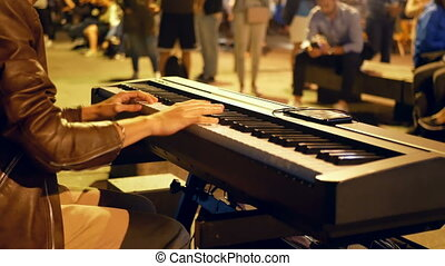 Street piano night light