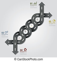 Street & Road Business Infographics Design Template