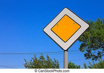 Street road sign