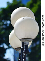 Street round lamp in the park