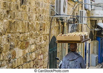 Street Scene at Old Jerusalem, Israel