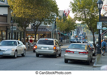 Bar Harbor, Maine - Street Scene, Bar Harbor, Maine