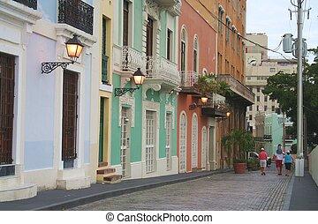 Street Scene in Old San Juan