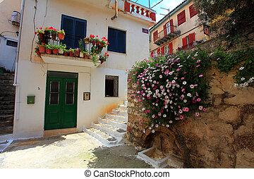 house with flowers nafplio greece