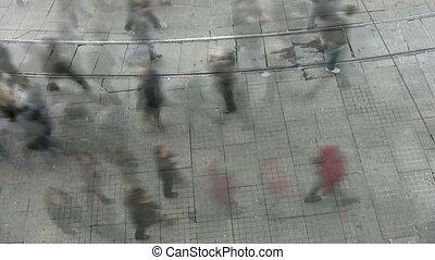 Street scene time lapse