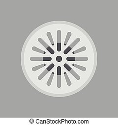 Street sewer in a flat design, editable vector
