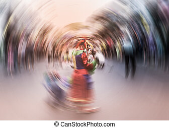 Street show in phuket town, Thailand - Street show among the...
