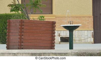 Street Sidewalk Fountain - A fresh water fountain on the...