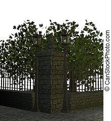 Street sidewalk with Trees - Street sidewalk with trees on a...