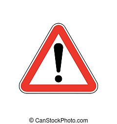 Street Sign, Be Careful Illustration Design. Vector EPS 10.