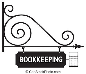 Street sign bookkeeping - Steel signboard accounting office...