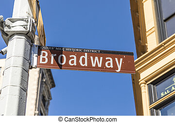 street sign Broadway in New York