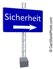 street sign - a street sign with a direction and german...