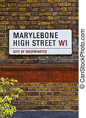 Marylebone High Street in London