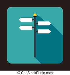 Street sign icon, flat style