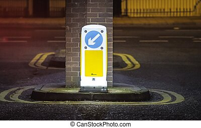 Street sign light london empty street lockdown covid corona virus