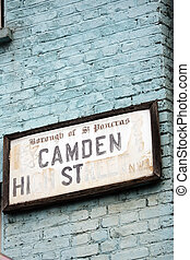 Street sign of Camden Town - Street sign of Camden...