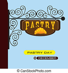 Street sign pastry