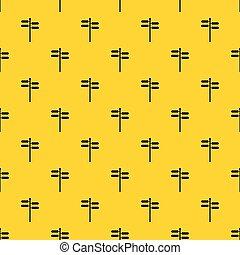 Street sign pattern vector