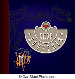 Street sign souvenir shop