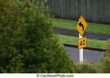 Street Sign - Corner street sign in the urban Jungle