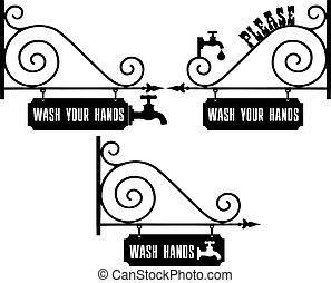 Street sign Wash Your Hands