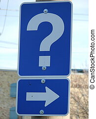 question mark - street sign with a question mark
