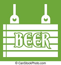 Street signboard of beer icon green