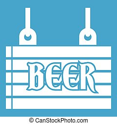 Street signboard of beer icon white