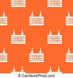 Street signboard of beer pattern seamless