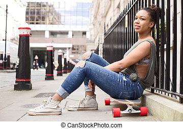 street skateboard girl