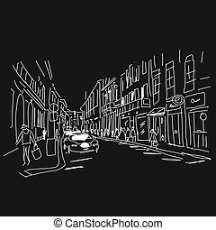 Street, sketch for your design