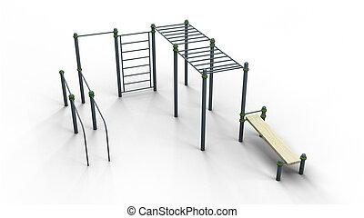 street sport 3 rack 3d illustration render
