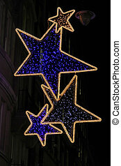 Street stars decoration