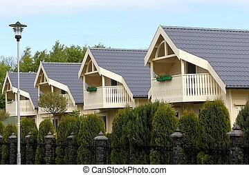Street suburban homes