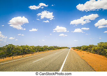 An image of a nice road to the horizon
