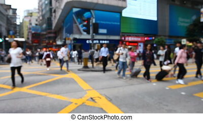 street traffic in Hong Kong