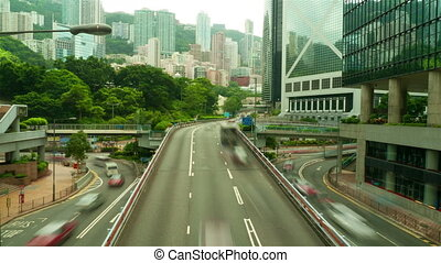 Street traffic in Hong Kong, timelapse