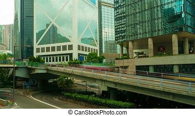 Street traffic in Hong Kong, timelapse