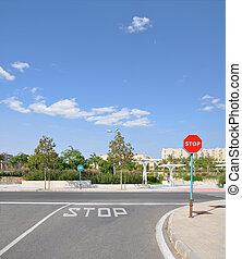 Street traffic stop sign