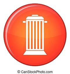 Street trash icon, flat style