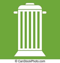 Street trash icon green