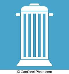 Street trash icon white