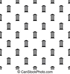 Street trash pattern, simple style