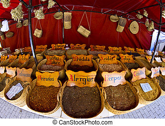 street vendor of medicinal herbs
