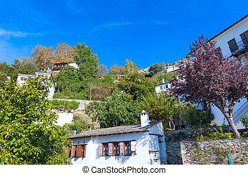 Street view at Makrinitsa village of Pelion, Greece - Street...