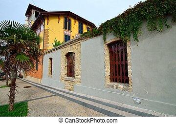 Street view of old Alghero, Sardinia.