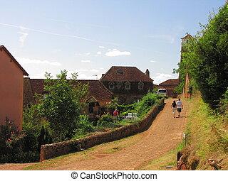 Street village, Castelnau