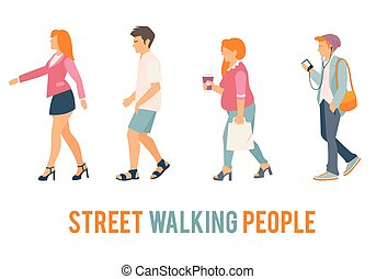 Street walking people.