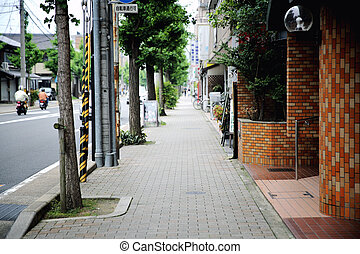 street way in japan with selective focus in street , Kyoto